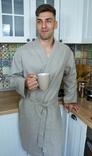 Чоловічий халат з натурального нефарбованого льону, фото №4