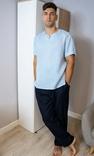 Комплект чоловічого одягу для дому з натурального льону, фото №2