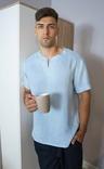 Комплект чоловічого одягу для дому з натурального льону, фото №3