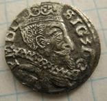 Трояк  Сигизмунда 3-го,м.д.Люблин (1597) R1 по Ігеру, фото №2