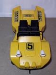 Машинка игрушечная СССР электромеханическая гоночная БАГГИ 5, фото №4