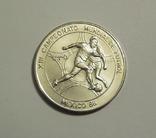 Куба, 5 песо 1986 - Чемпионат мира по футболу в Мексике - серебро 999, фото №2