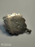 Старый серебряный кулон с бирюзой 56 грамм, фото №6