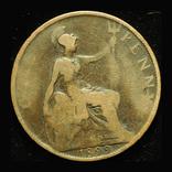 Великобритания пенни 1899, фото №3
