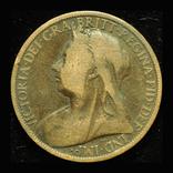 Великобритания пенни 1899, фото №2