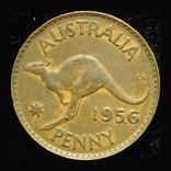 Австралия 1 пенни 1956, фото №2
