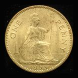 Великобритания пенни 1953 Unc коронационная, фото №2