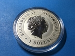1 доллар Австралия 2016 года. Кенгуру. Копия, фото №2