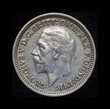 Великобритания 3 пенса 1934 серебро, фото №3