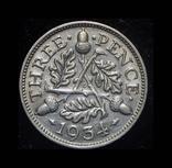 Великобритания 3 пенса 1934 серебро, фото №2