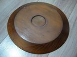 Резная настенная тарелка с латунными вставками, фото №7