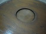 Резная настенная тарелка с латунными вставками, фото №8