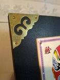 Набор «Пекинская опера» (ваза и настольное панно, латунь, фарфор, фото №5