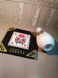 Набор «Пекинская опера» (ваза и настольное панно, латунь, фарфор, фото №7
