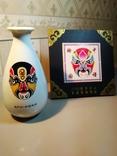 Набор «Пекинская опера» (ваза и настольное панно, латунь, фарфор, фото №10