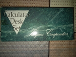 Набор: ручка, подставка под неё, калькулятор. Ранний Китай, нач 1990-х, фото №2