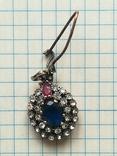 Серебрянные серьги и кулон, фото №12