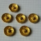 Пуговицы рифлёные в тяж. металле  под золото 6 шт, фото №5