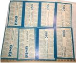 "Календарики: тренер и футболисты ""Динамо"" Киев / 19891990, 8 штук, фото №3"