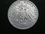 3 марки 1908 F Вюртемберг, фото №4
