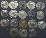 Монеты Древнего Рима (денарии) 18 штук., фото №2