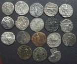 Монеты Древнего Рима (денарии) 18 штук., фото №3