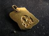 """""""Козерог"""". Золото 750 проба, фото №3"""