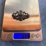 Серебряная брошь с алмазами, 48 шт, фото №3