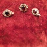 Кольцо и серьги.Гранат. Серебро 925 пр. СССР., фото №3
