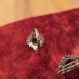 Кольцо и серьги.Гранат. Серебро 925 пр. СССР., фото №5