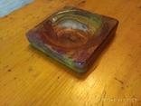 Пепельница из оникса, старая, фото №2