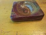Пепельница из оникса, старая, фото №3