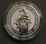 2021 г - 5 фунтов Великобритания,Белая Борзая  Ричмонда, 2 унции серебра в капсуле, фото №2
