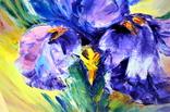 "Картина маслом ""Mysterious Flower"", фото №8"