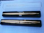 Ручки 2шт.АР806.8 (золотое перо) и ручка шариковая 1500 лет Киеву.Обе ручки позолоченные., фото №4
