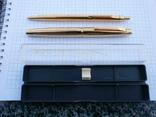 Ручки 2шт.АР806.8 (золотое перо) и ручка шариковая 1500 лет Киеву.Обе ручки позолоченные., фото №3