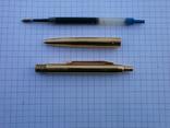 Ручки 2шт.АР806.8 (золотое перо) и ручка шариковая 1500 лет Киеву.Обе ручки позолоченные., фото №9