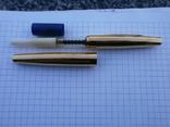 Ручки 2шт.АР806.8 (золотое перо) и ручка шариковая 1500 лет Киеву.Обе ручки позолоченные., фото №11