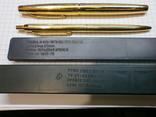 Ручки 2шт.АР806.8 (золотое перо) и ручка шариковая 1500 лет Киеву.Обе ручки позолоченные., фото №12