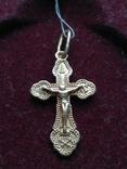 Золотой крест крестик Золотий хрест хрестик кулон з пробою, фото №2