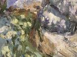Картина. Каменистая поляна. Пейзаж. Холст, масло. Размер 49*59 см, фото №5