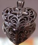 Кулон сердечко серебро, фото №4