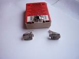 Набор - кольцо и серьги с черным ониксом серебро 925 проба, фото №5