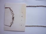 Набор - ожерелье и серьги с аметистами серебро 925 проба аметист, фото №4