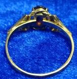 Комплект кольцо и серьги  золото. гранаты., фото №5