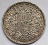 1 марка 1908 г. (D) Германия, серебро, фото №3