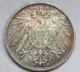 1 марка 1908 г. (D) Германия, серебро, фото №6