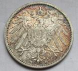 1 марка 1908 г. (D) Германия, серебро, фото №7