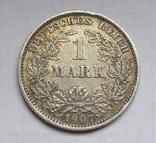 1 марка 1907 г. (Е) Германия, серебро, фото №2