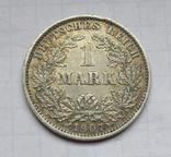 1 марка 1907 г. (Е) Германия, серебро, фото №3